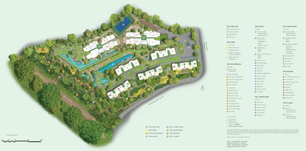 Avenue South Residence Site Plan with Facilities 1030x509